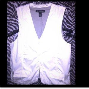 Men's inc white back logo causal vest
